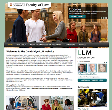 The Master of Law LLM website