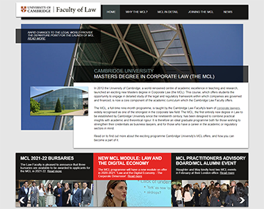 The Masters Degree in Corporate Law MCL website