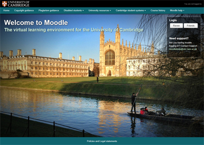 University of Cambridge Moodle VLE