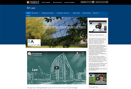 The undergraduate BA Tripos Law Degree website