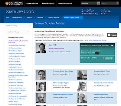 Eminent Scholars Archive