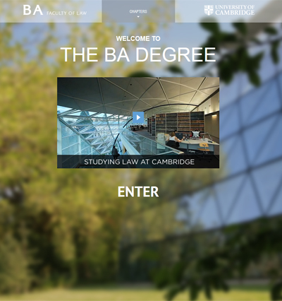 The undergraduate BA Tripos Law Degree website