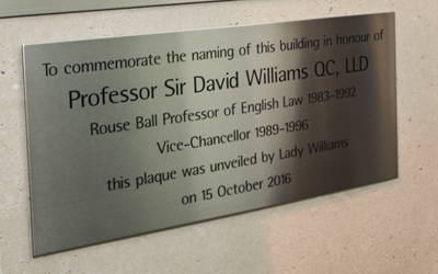 Naming of the Law Faculty building