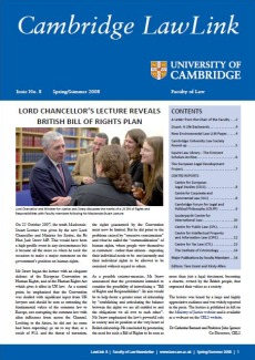 Cambridge Lawlink Issue 8 for Spring/Summer 2008