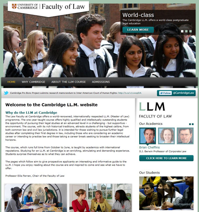 The Master of Law LL.M. website