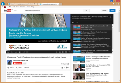Public Law Conference: Videos of plenary sessions now available