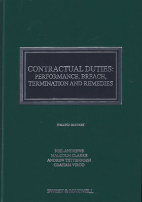 Contractual Duties: Performance, Breach, Termination and Remedies 2nd edition