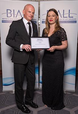David Wills receives BIALL Life Membership Award